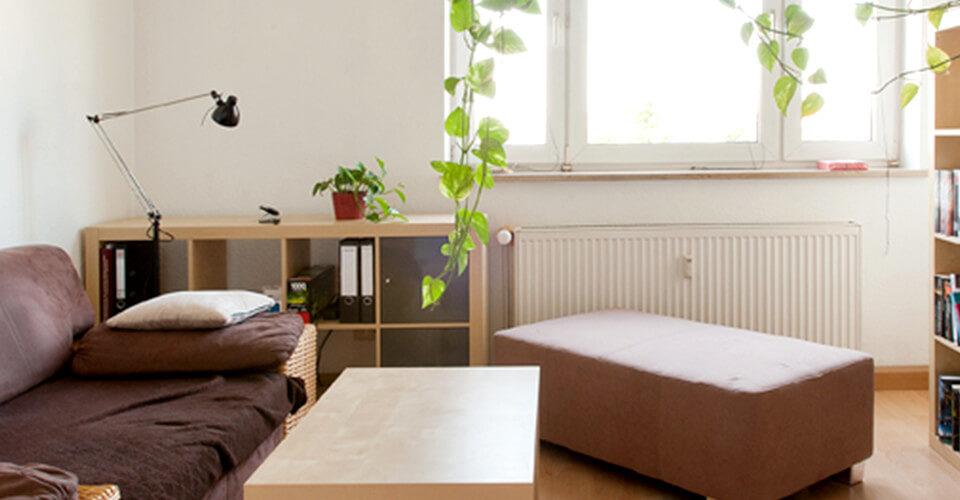 Zwei Zimmer + Küche + Bad. Gemütlich, praktisch, gut!